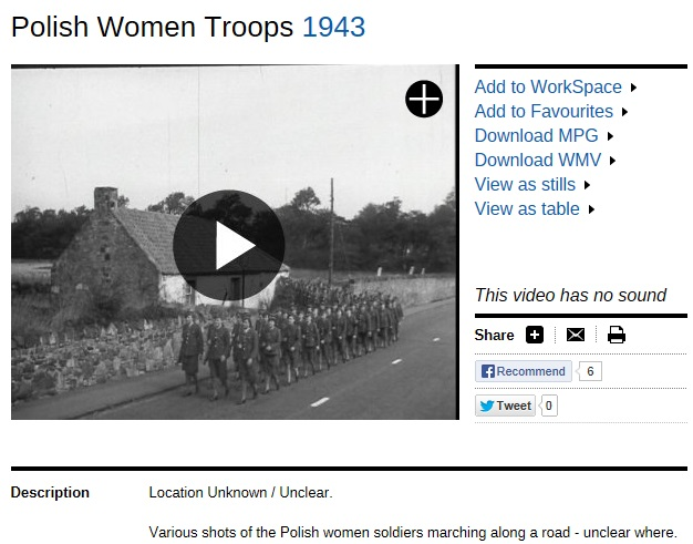 Polish women troops in Gullane. The location had remained unidentified for years.