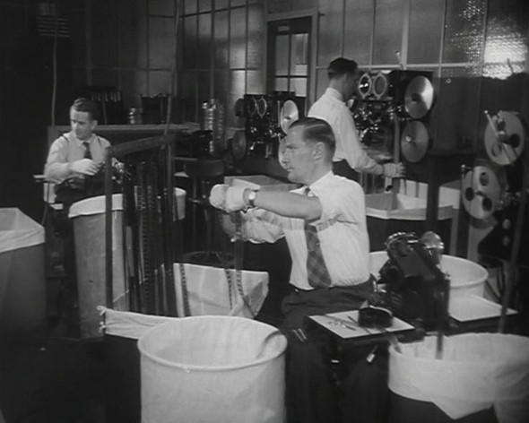 Newsreel staff at work in 1953
